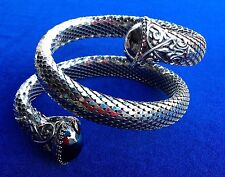 Superb Whiting and Davis Silver Vintage Snake - Like Bracelet