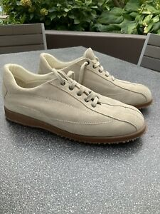NEW HOGAN Italy Men's Tan Suede Leather Walking Shoes Size 9 D 9D 43 EUR $700