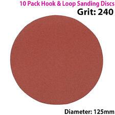 Qty 10 - 125mm 5 Pulgadas los discos de lijar Grano 240-Lijadora De Órbita-Hook & Loo