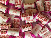 Birthday Mini Love Heart Sweets 13th 16 18 21st 30 40 50 60 70  non personalised