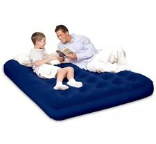 Inflatable Sleeping Sofa Double Flocked Air Bed Matress Guest Camping Hiking