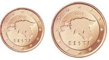 Estland UNC set 2015 - 1 cent 2 cent kms Estonia Eesti euro