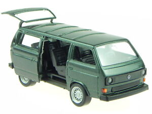 VW T3 Bus Caravelle grey Vintage made in Germany modelcar 1040 Schabak 1:43