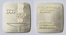 Medaille Bronze versilbert DOG Deutsche Olympische Gesellschaft Leistungen Sport