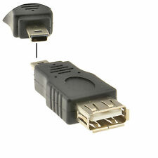 USB 2.0 A Type Female Socket to USB MINI 5 Pin Plug Male Adaptor [008732]