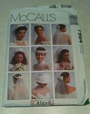 McCalls 7984 Pattern Alicyn Wedding Veil Hat Headpiece Bow Accessories UNCUT