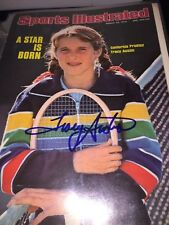 Tracy Austin Signed sports illustrated cover tennis picture autograph pic