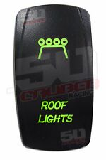 On Off Rocker Switch Roof Lights Green Fit Ford Chevy Dodge Toyota Nissan truck