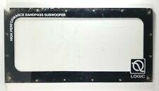 "Q Logic High Performance Bandpass Subwoofer 24x12x3/8"" Plexiglass Cabinet Cover"