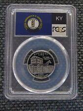 2001-S 25c Kentucky SILVER State Flag Label Quarter Proof Coin PCGS PR70DCAM