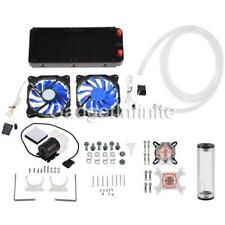 PC Liquid Cooling 240mm Radiator Cooler Kit Pump Reservoir CPU GPU HeatSink