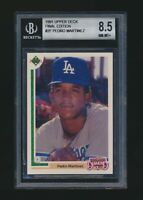 1991 Upper Deck Final Edition #2F Pedro Martinez Rookie Beckett 8.5 Dodgers