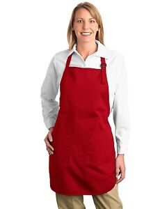 Port Authority Full Apron pocket Teflon A500 9 colors Blue Black Red Green White