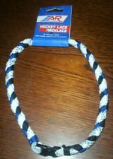 """A&R Sports Hockey Skate Lace Braided Necklace 18"""" Ice Roller Sports Quad 3"""