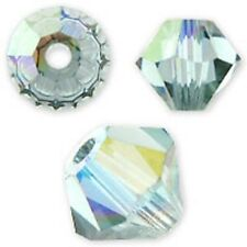 Swarovski Crystal Bicone. Indian Sapphire AB Color. 4mm. Approx. 144 PCS. 5328