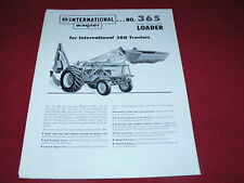 International Harvester Wagner 365 Loader For 560 Tractor Dealer's Brochure