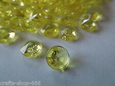 100 DIAMANTEN  Gelb  Streuelemente  Streudeko  Basteln Tischdeko   8 mm - Neu