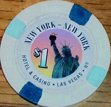 Old $1 NEW YORK NEW YORK Casino Poker Chip Vintage H/C Mold Las Vegas NV