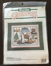 "Bucilla Christmas Santa ""Checking His List"" Counted Cross Stitch Kit - 15"" x 12"""