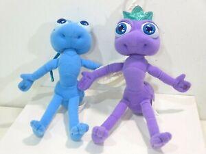 1998 Disney Pixar Bugs Life Plush Toys Flik Princess Atta Dot Stuffed Purple
