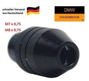 Schnellspann Bohrfutter M7 M8 x 0,75mm z.B.f Dremel Proxxon 0,3-3,2mm Spannzange