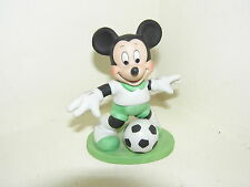 "WALT DISNEY PORCELAIN MICKEY MOUSE FIGURE 4"" HIGH PLAYING FOOTBALL 10cm lovely"