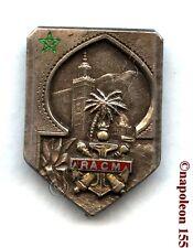 ARTILLERIE. Rgt d'Artillerie Coloniale du MAROC, RACM en Argent. Fab. Drago Bera
