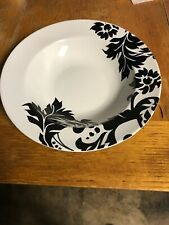 Home Damask Soup/salad  Rim Bowls Black & White 12 Available