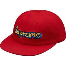 ebbe0a2f587 Supreme Gonz Logo 6-panel Cap Hat Red Ss18 100 Authentic