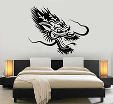 Vinyl Wall Decal Chinese Asian Dragon Head Fantasy Animal Stickers (2930ig)