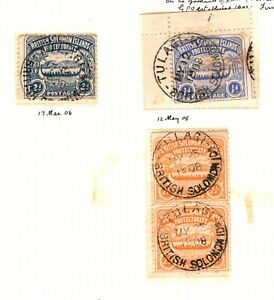Solomon Islands *TULAGI* Postmarks {7} Island CDS Album Page 1908{samwells}EP185