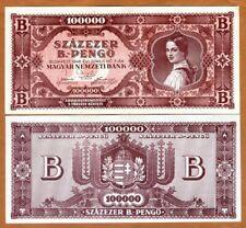 Hungary, 100,000,000,000,000,000 pengo 1946, P-133 aUNC-UNC