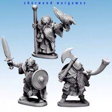 28mm Dwarf King, Wizard & Musician, Oathmark Mass Battle Fantasy Rules. D&D RPGs