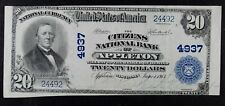 1902 $20 National Currency Appleton Wisconsin Rare $20 Note CH 4937