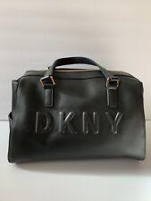 DKNY Donna Karan Tilly Black Logo Satchel Handbag