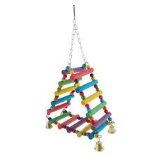 Bird Parrot Hammock Large Macaw Toys Ladder Hanging Swing Chew Bridge