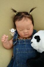 More details for *bohemian babies* reborn baby girl ashia by laura lee eagles ethnic asian