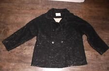 Girls Zara Black Coat Size 11/12