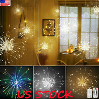 LED Firework Light Copper Wire Fairy String Lights Christmas Wedding Decor New