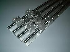SBR20-2000mm 20MM LINEAR SLIDE GUIDE SHAFT 2 RAIL+4SBR20UU Bearing Block CNC set