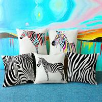 Home Decor Office Sofa Zebra Print Cushion Throw Pillow Cover Case Pillowslip