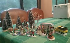 CHRISTMAS LOT OF LEMAX and other VILLAGE ACCESSORIES TREES and figurines