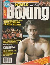 WORLD BOXING MAGAZINE THOMAS HEARNS BOXING HOFer COVER JUNE 1984