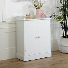 White wooden cupboard storage sideboard unit living room hallway furniture shelf