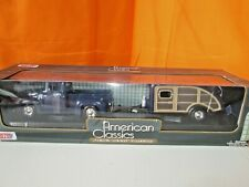 Motor Max American Classic 1956 Ford F-100 Pick up & Trailer 1:24 Diecast in Box