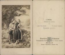 """G.Schauer, scène de vie """"l'adieu du conscrit"""" d'après dessin Vintage C"""