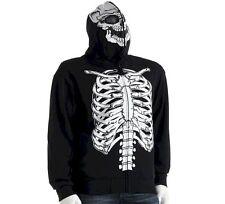 NEW NWT Mens Skeleton Hoodie Sweatshirt XL