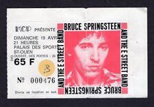 Original Bruce Springsteen 1981 The River Tour Concert Ticket Stub Paris France