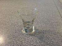 "Vintage Glass Shot Glass Shotglass 2-5/8"" Tall                      T"