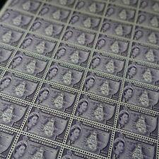 FEUILLE SHEET MONTSERRAT N°133 x50 CARTE DE L'ÎLE 1955
